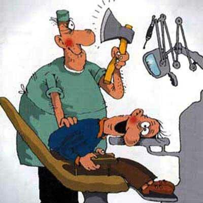 смешная карикатура на врача стоматолога