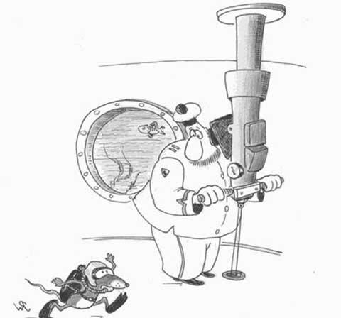 на подводной лодке карикатура