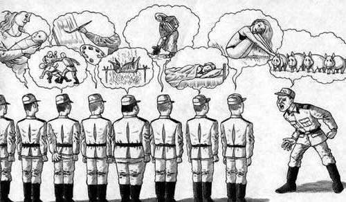 армейские мысли карикатура