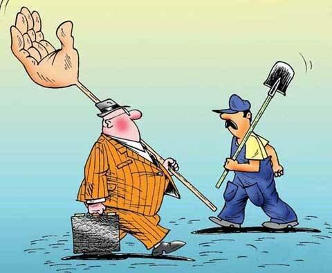 карикатура орудие труда чиновника