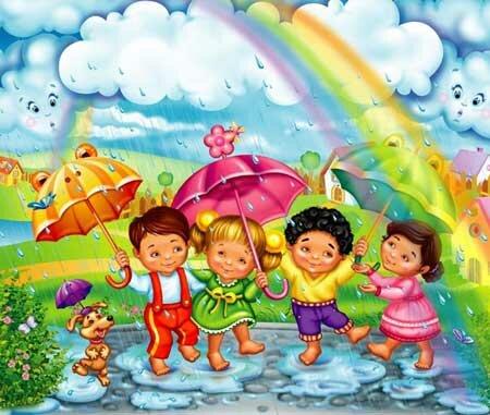 дождик и смешная детвора