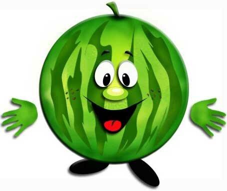 зеленый арбуз
